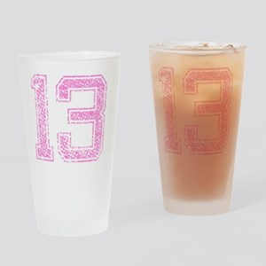 13, Pink Drinking Glass