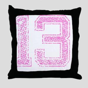 13, Pink Throw Pillow