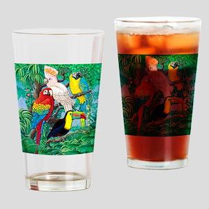 Tropical Birds 29x27 Drinking Glass