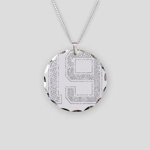 19, Grey, Vintage Necklace Circle Charm