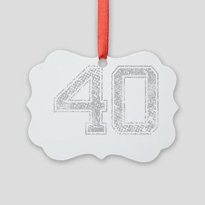 40, Grey, Vintage Picture Ornament