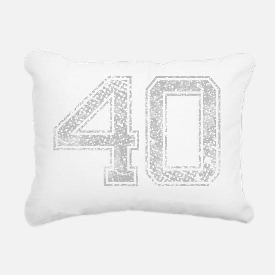 40, Grey, Vintage Rectangular Canvas Pillow
