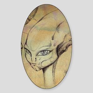 aliencraft 2 23x25 Sticker (Oval)