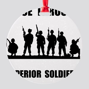 Superior Soldiers Round Ornament