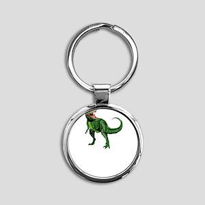 Sexual Tyrannosaurus Round Keychain