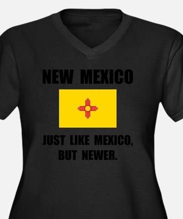 New Mexico N Women's Plus Size Dark V-Neck T-Shirt
