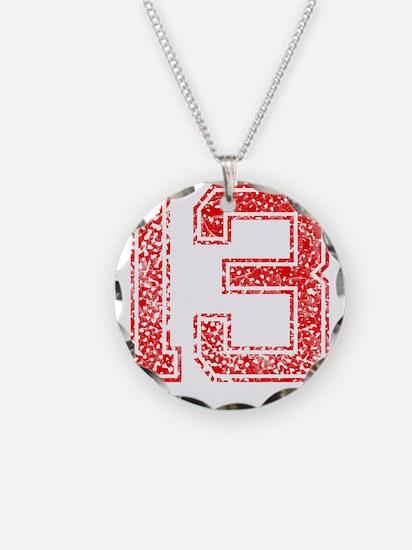 13, Red, Vintage Necklace