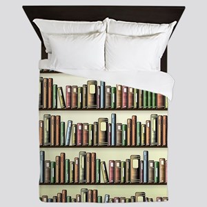 Reading Room Bookshelf Queen Duvet