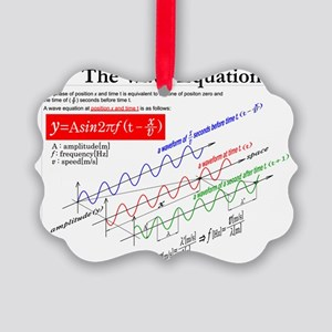 The Wave Equation Picture Ornament