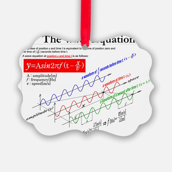 The Wave Equation Ornament