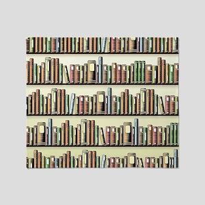Reading Room Bookshelf Throw Blanket