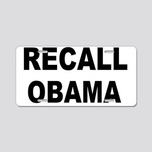 anti obamarecall obama big Aluminum License Plate