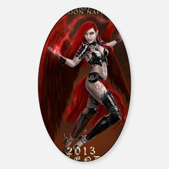 Erinyes fantasy art calendar cover Sticker (Oval)