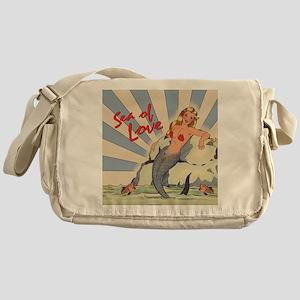 Mermaid Sea of Love Messenger Bag