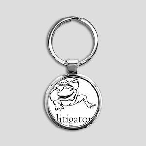a litigator Round Keychain