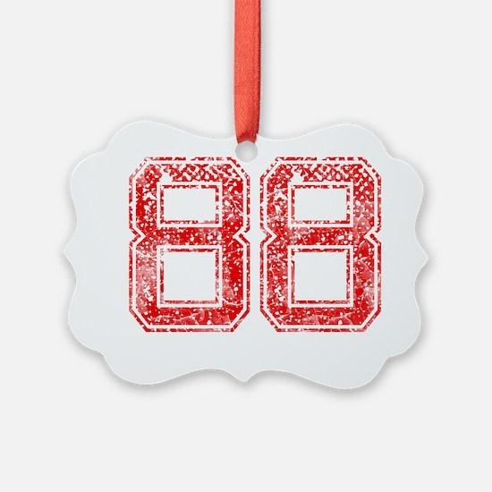 88, Red, Vintage Ornament
