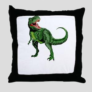 Rex Nom Nom Throw Pillow