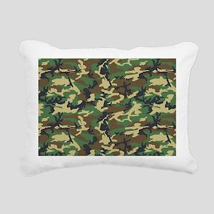 Woodland Camo Rectangular Canvas Pillow