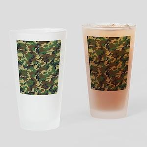 Woodland Camo Drinking Glass