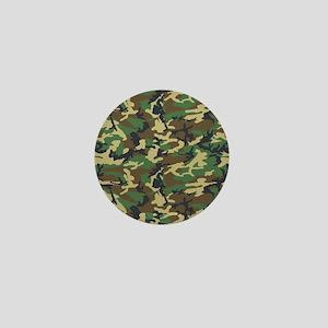Woodland Camo Mini Button