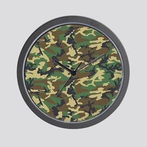 Woodland Camo Wall Clock