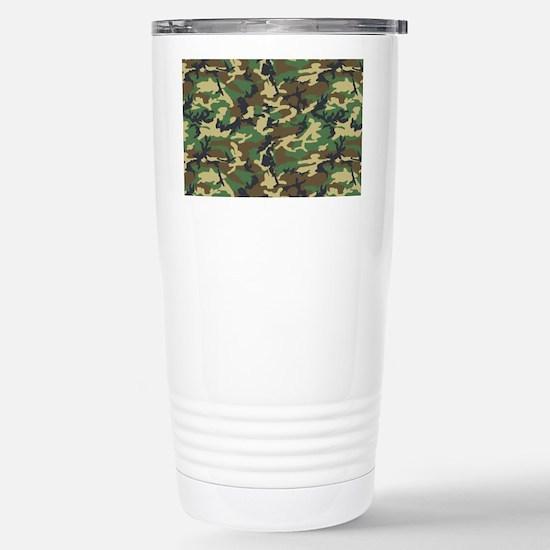Woodland Camo Stainless Steel Travel Mug