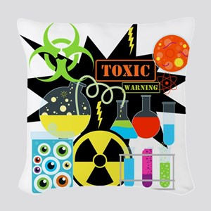 Mad Scientist Woven Throw Pillow