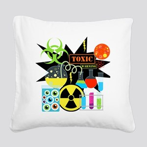 Mad Scientist Square Canvas Pillow