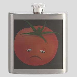 Sad Tomato, black Flask