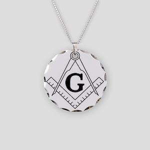 Freemason Symbol Necklace Circle Charm