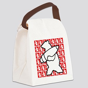 Bear Soldier Canvas Lunch Bag