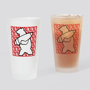 Bear Soldier Drinking Glass