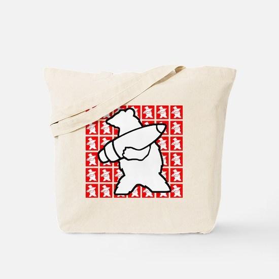 Bear Soldier Tote Bag