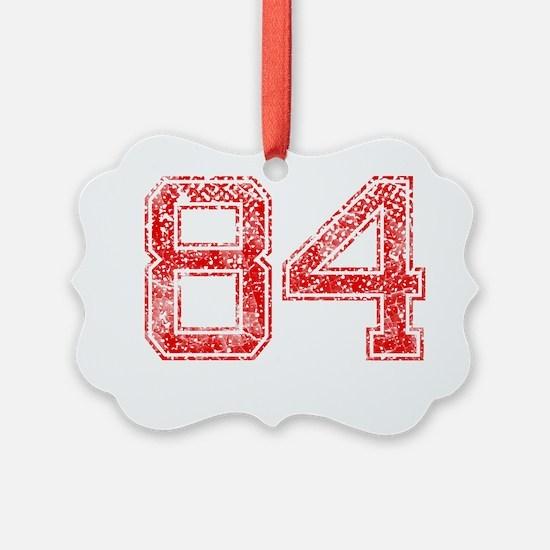 84, Red, Vintage Ornament