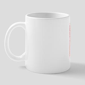 87, Red, Vintage Mug