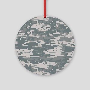 Digital Camo Round Ornament