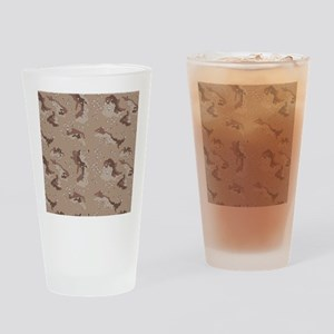 Digital Camo Drinking Glass