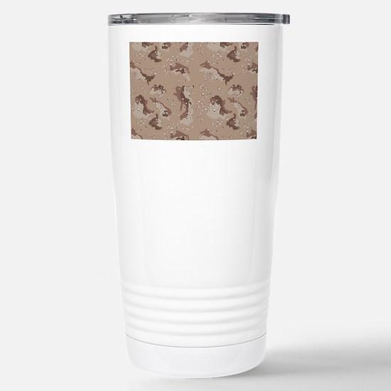 Digital Camo Stainless Steel Travel Mug