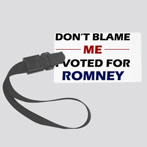Dont Blame Me Large Luggage Tag
