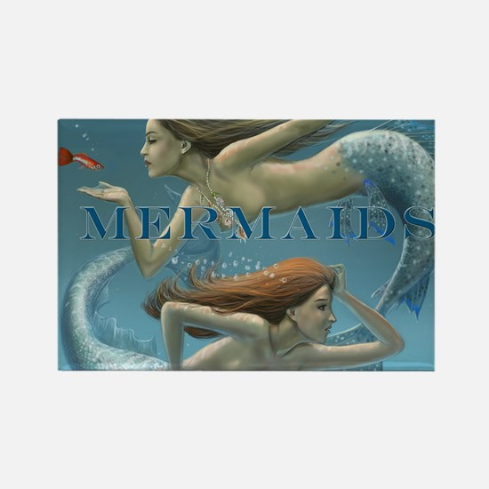 Mermaids Calendar 2013 uncovered Rectangle Magnet
