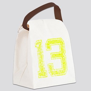 13, Yellow, Vintage Canvas Lunch Bag