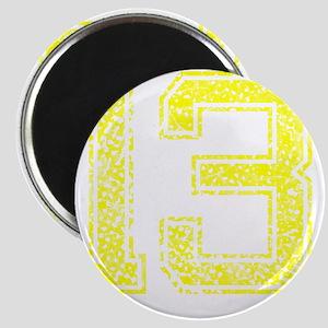 13, Yellow, Vintage Magnet
