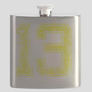 13, Yellow, Vintage Flask