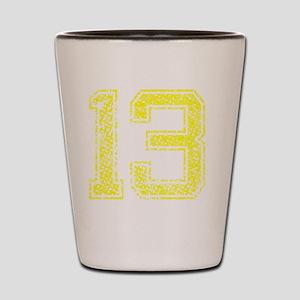 13, Yellow, Vintage Shot Glass