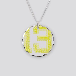 13, Yellow, Vintage Necklace Circle Charm