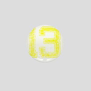 13, Yellow, Vintage Mini Button