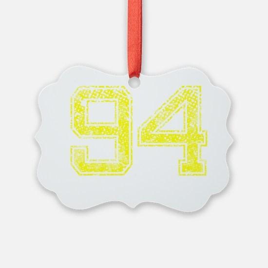 94, Yellow, Vintage Ornament