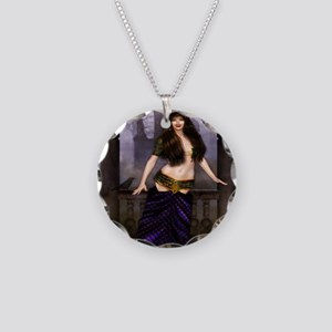 The Vampire Countess Necklace Circle Charm