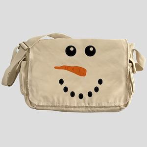 Snowman Face Messenger Bag