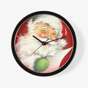 Santa Vintage Wall Clock